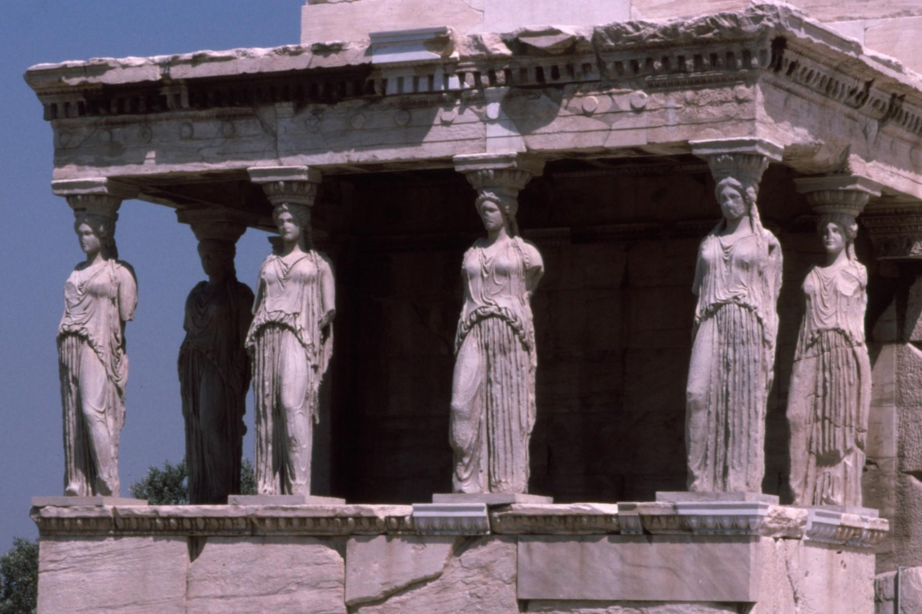 エレクテイオン神殿の「乙女の柱」