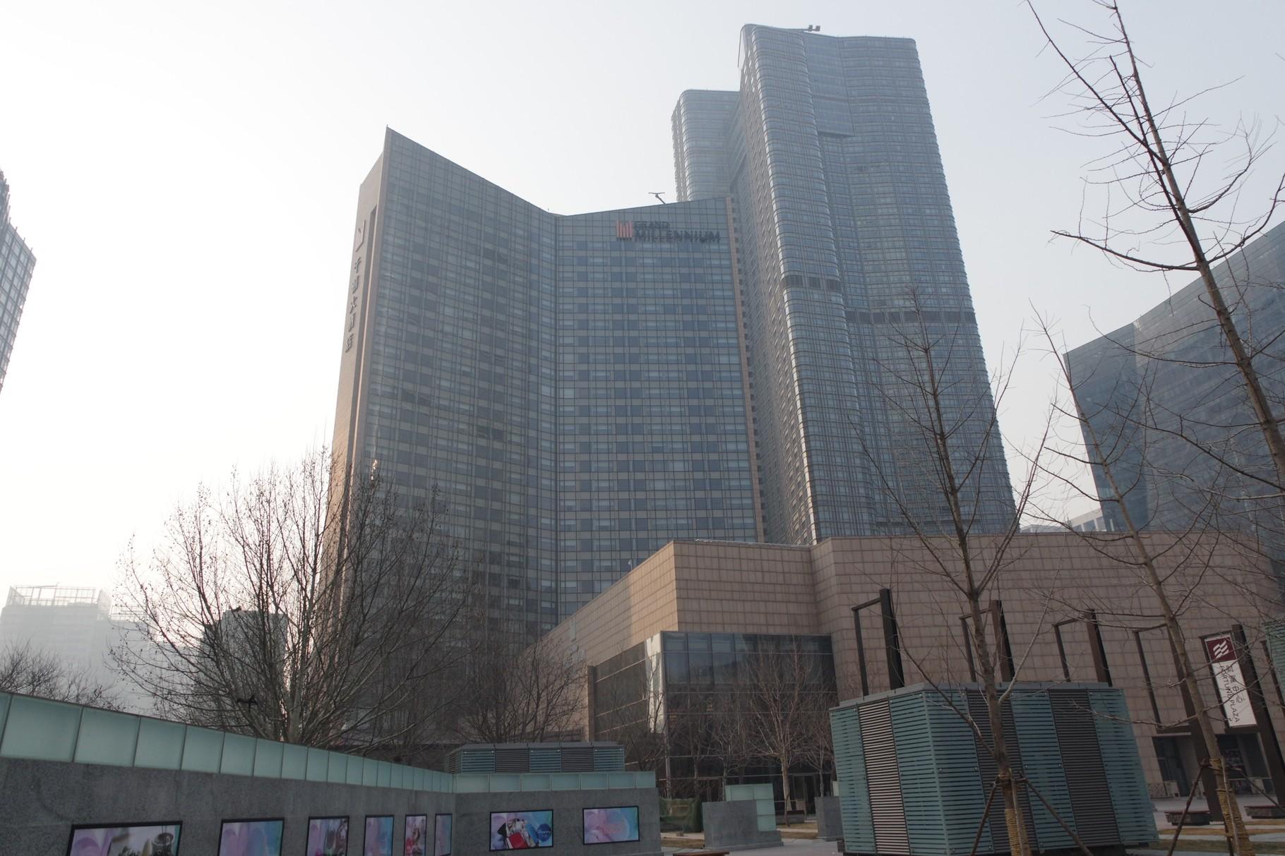朝陽区のミレニアムホテルとマンション