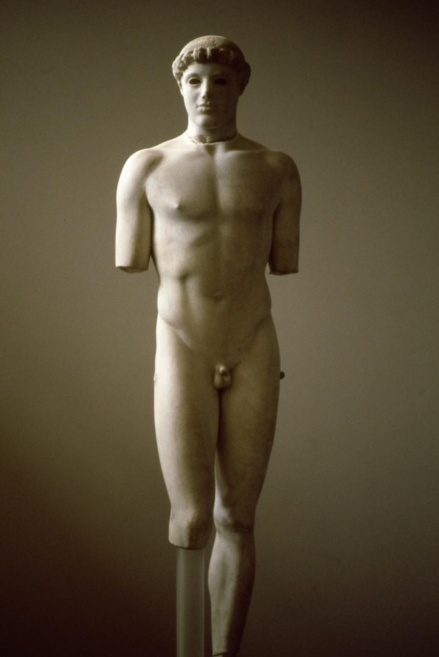 「クリティオスの少年」 480B.C.ころ エジプト彫刻の姿勢