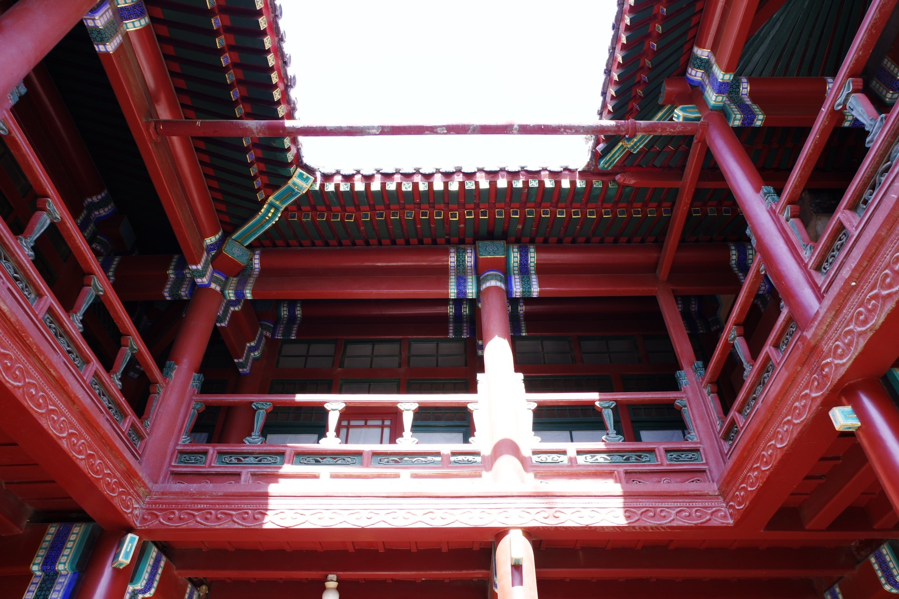 三清閣の回廊