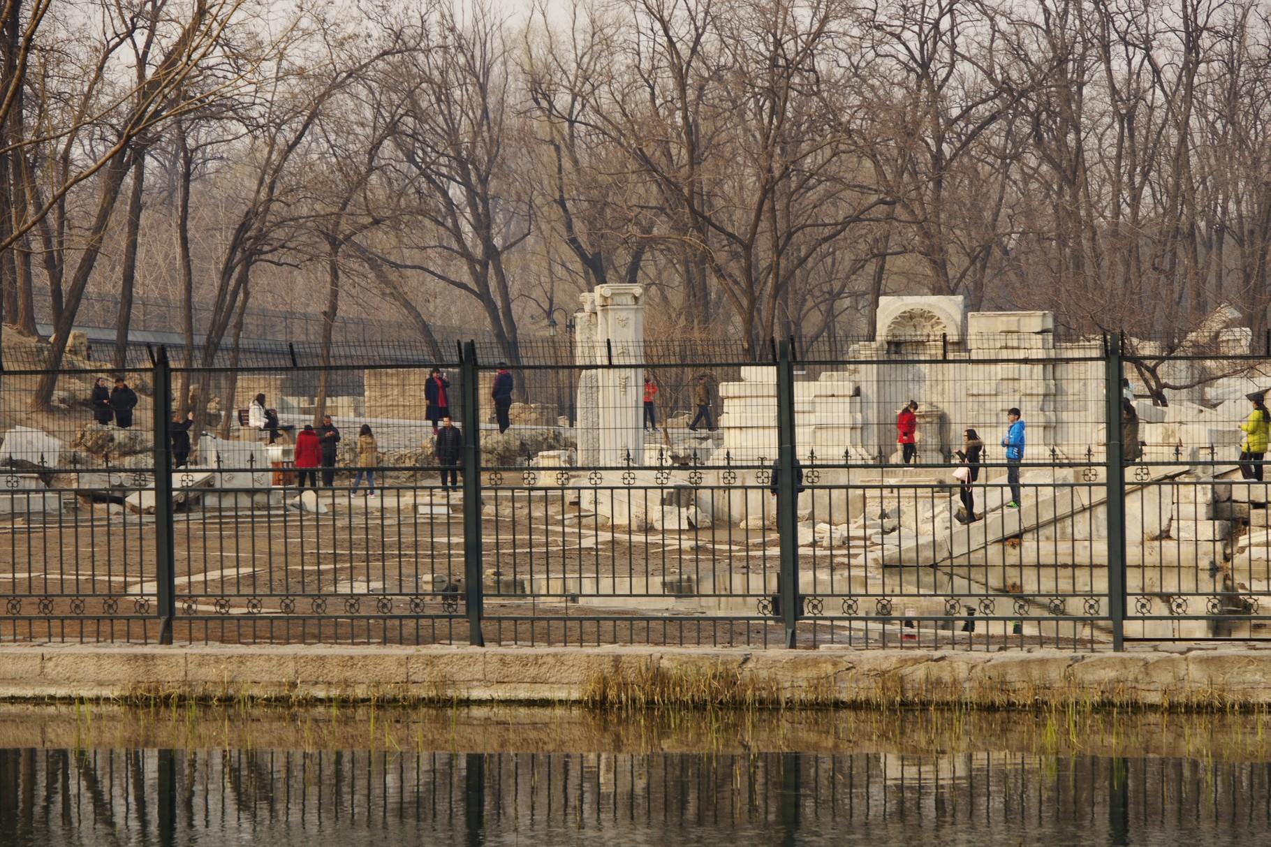 長春園北東部の廃墟