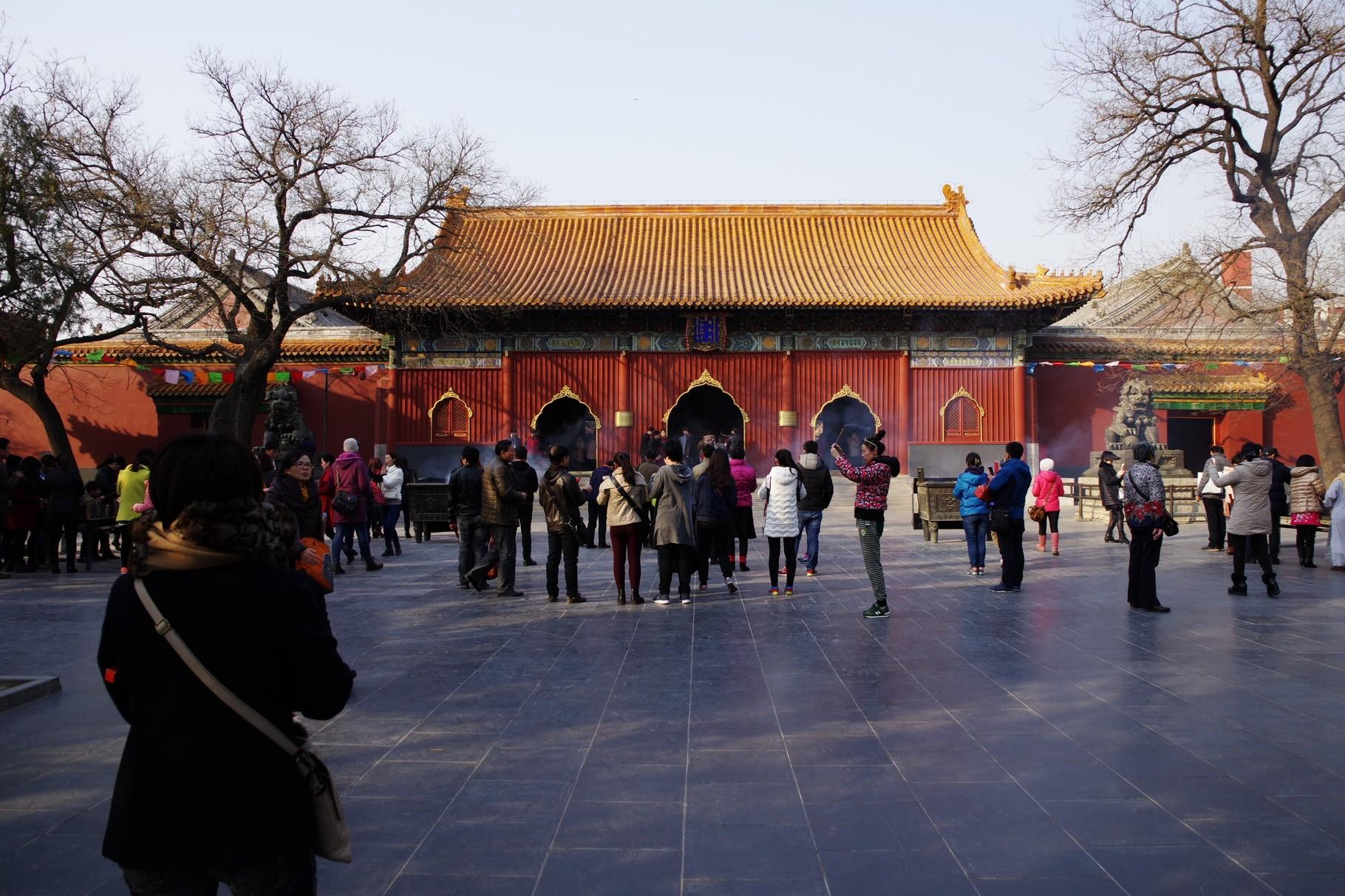第一の主殿 雍和門(天王殿 布袋像と四天王)