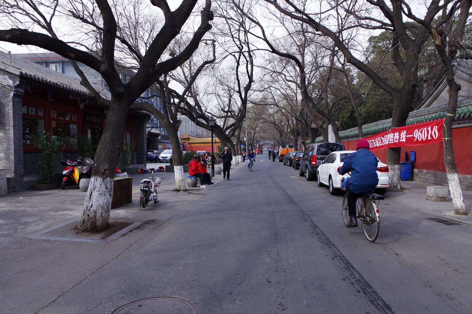 南側の道路 「国子監街」