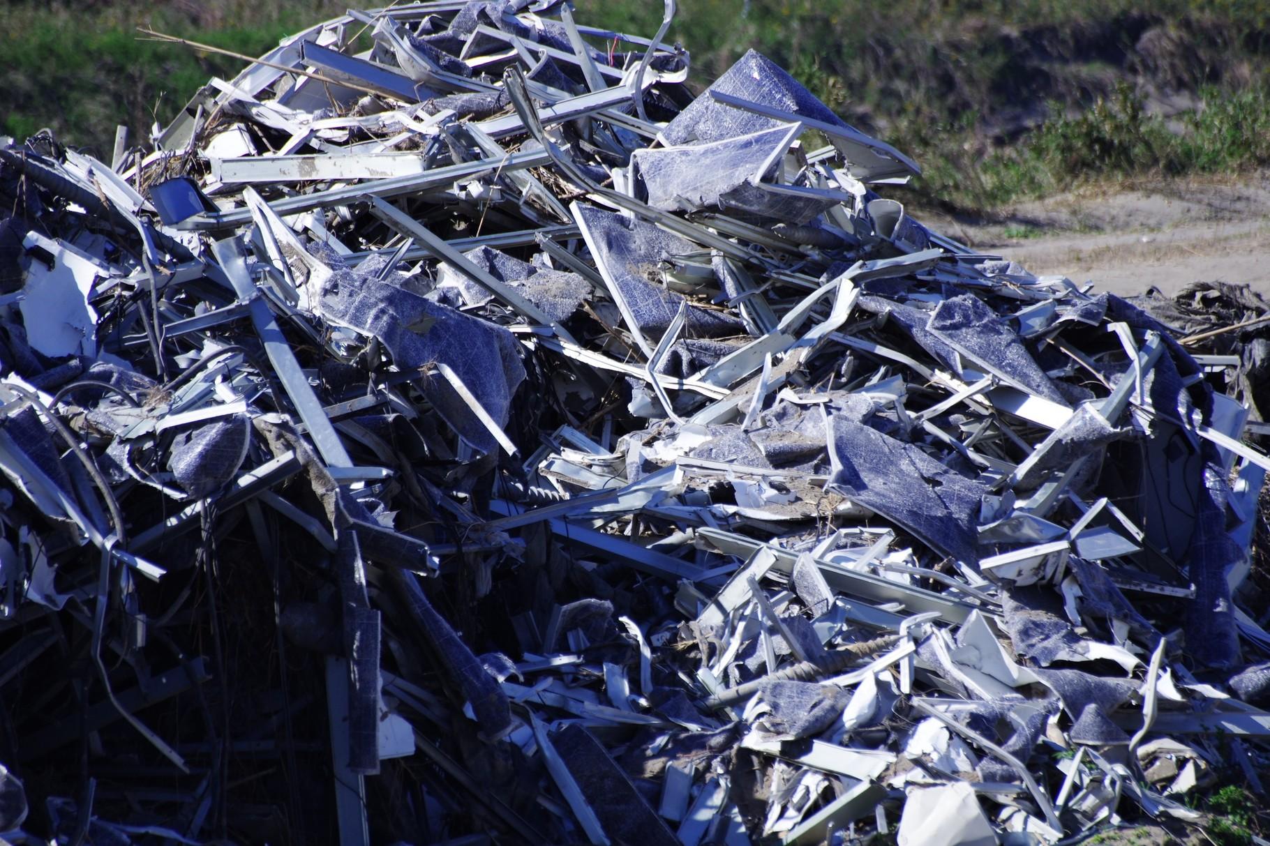 「A社」のソーラーパネルの残骸