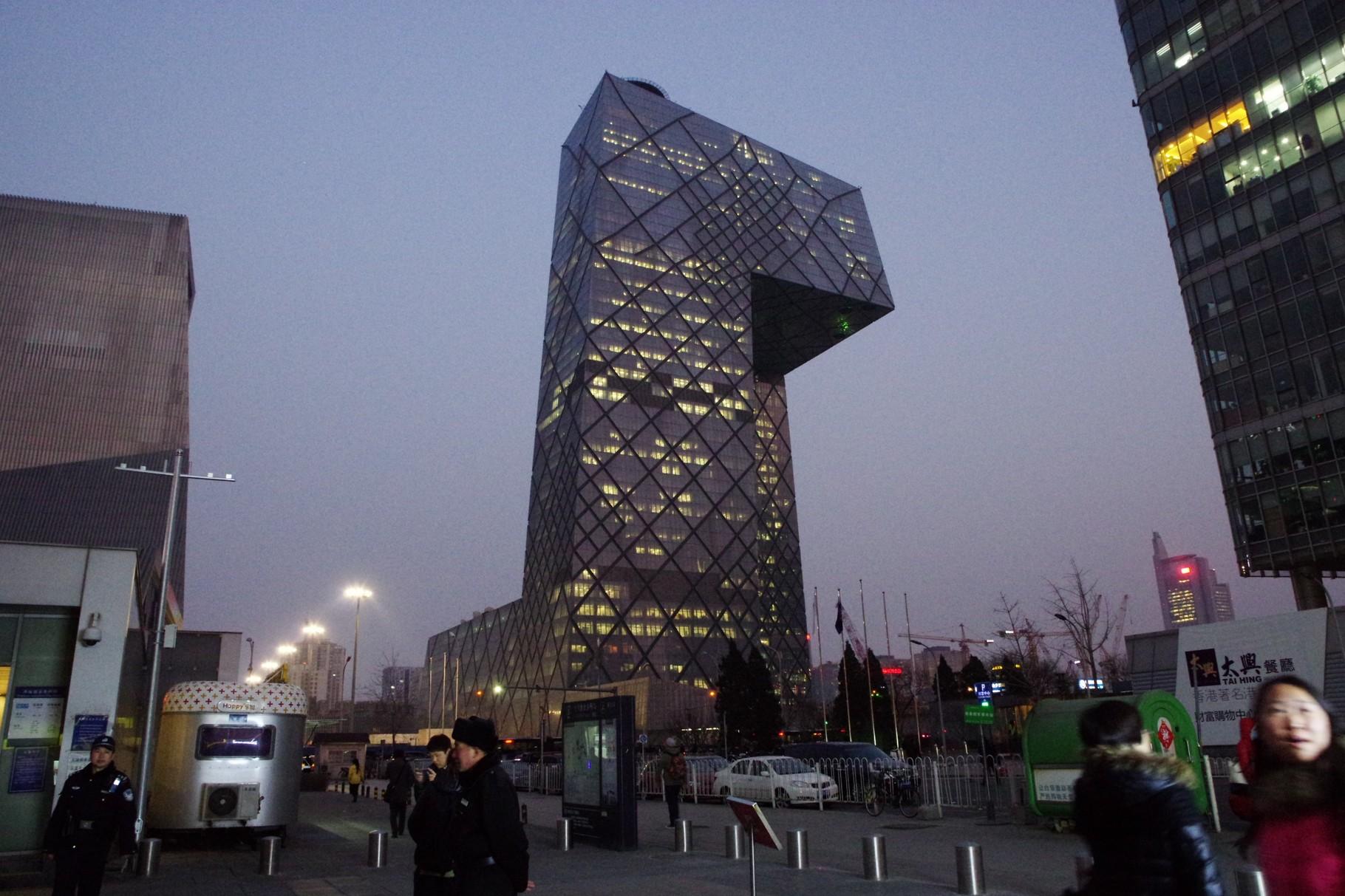 朝陽区の中国中央電視台(CCTV)