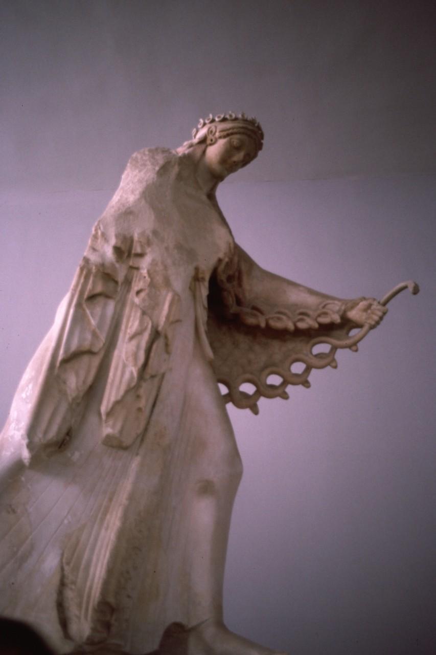 「アテナ女神」 旧神殿の破風