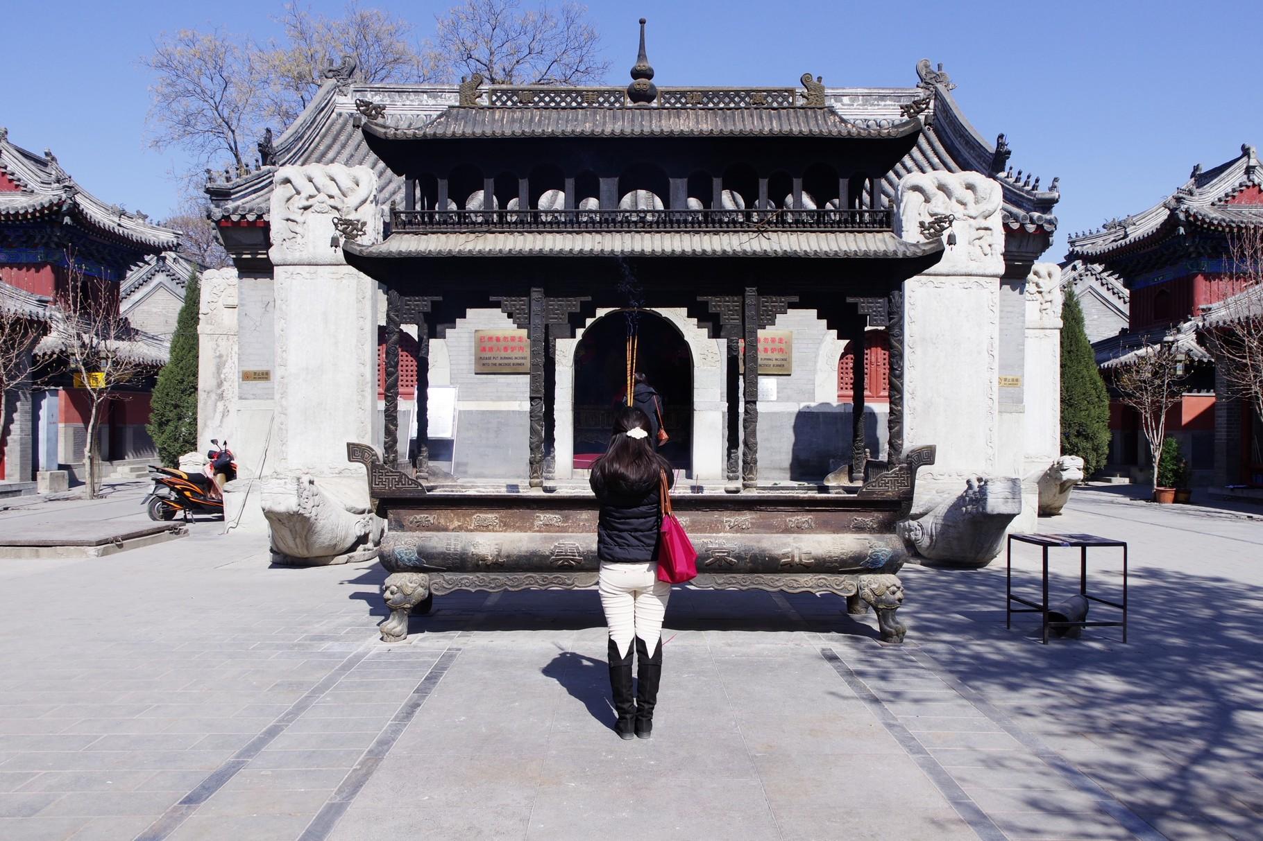 香炉と第一の主殿 灵官殿