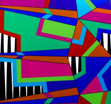 Bien caler, Acryl auf Leinwand, 80 x 80 cm