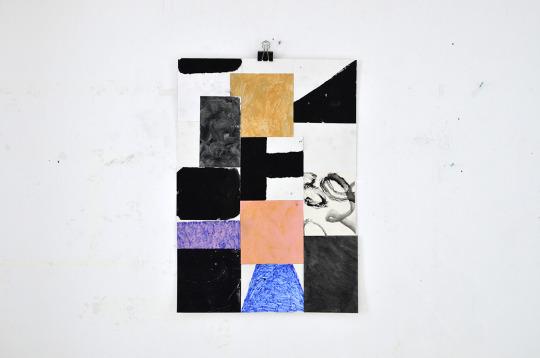 Sasha Pichushkin, Collage, Mischtechnik auf Papier, 30 x 42 cm, Galerie SEHR Koblenz