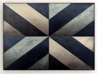 """""""Q4"""", 22,5 x 30 cm, Mischtechnik auf Holz, 2014"""