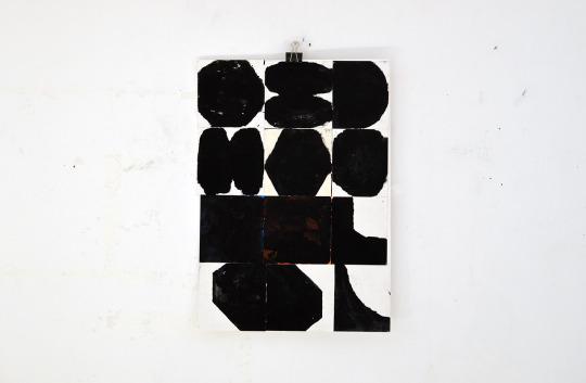 Sasha Pichushkin, Collage_14, Mischtechnik auf Papier, 30 x 42 cm, Galerie SEHR Koblenz