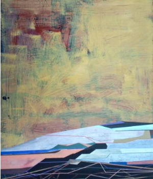James Wallace Harris: o.T., 2014, Öl auf Holz, 60 x 73 cm, Galerie SEHR Koblenz