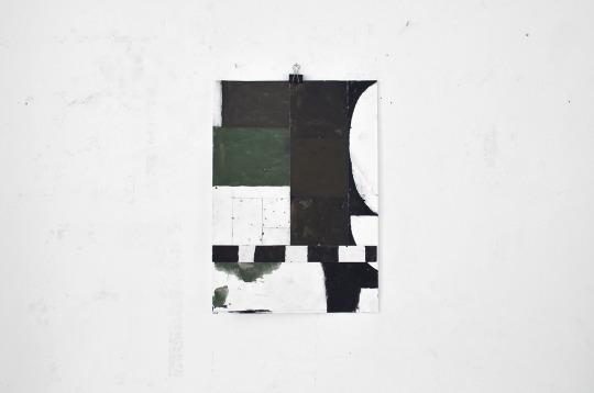Sasha Pichushkin, Collage_12, Mischtechnik auf Papier, 30 x 42 cm, Galerie SEHR Koblenz