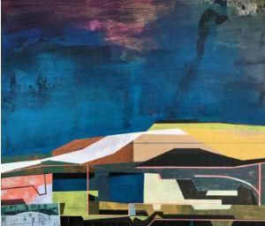 James Wallace Harris: New earth 8, 2014, Acryl auf Holz, 45,5 x 53 cm, Galerie SEHR Koblenz, verkauft