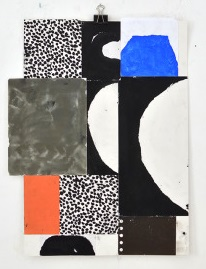 Sasha Pichushkin, Collage_16, Mischtechnik auf Papier, 30 x 42 cm, Galerie SEHR Koblenz