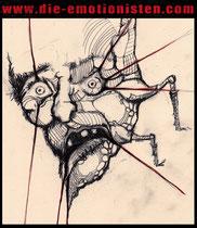 """""""Gregor Samsa"""" - Acryl und tusche auf Papier - 25x30cm - Doris Maria Weigl"""