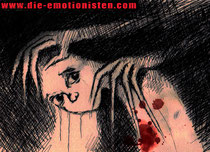 """""""Hass"""" - Tusche und Acryl auf Karton - 30x20cm - Doris Maria Weigl"""