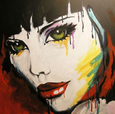 """""""Glut"""" - 80x80cm - Doris Maria Weigl"""