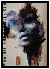 """Face II"" - Acryl auf Papier, 30x40cm - Doris Maria Weigl"