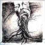 """Unheard"" - Serie Angst - Acryl  auf Leinen - 30x30cm - Doris Maria Weigl / Art"