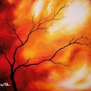 """""""Phoenix"""" - Acryl  auf Leinen - 80x50cm - Doris Maria Weigl / Art"""