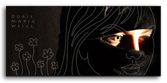 Verschleiert - Fotomix - Illustrationen Doris Maria Weigl / Portrait