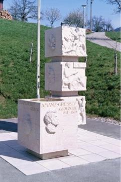 Gressly-Brunnen beim Schulhaus Bärschwil