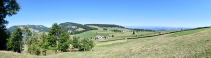 Panorama oberhalb des Hauberg