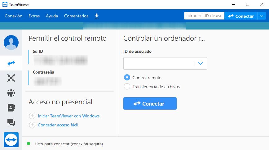 Descargar programa de control remoto de ordenadores - TeamViewer