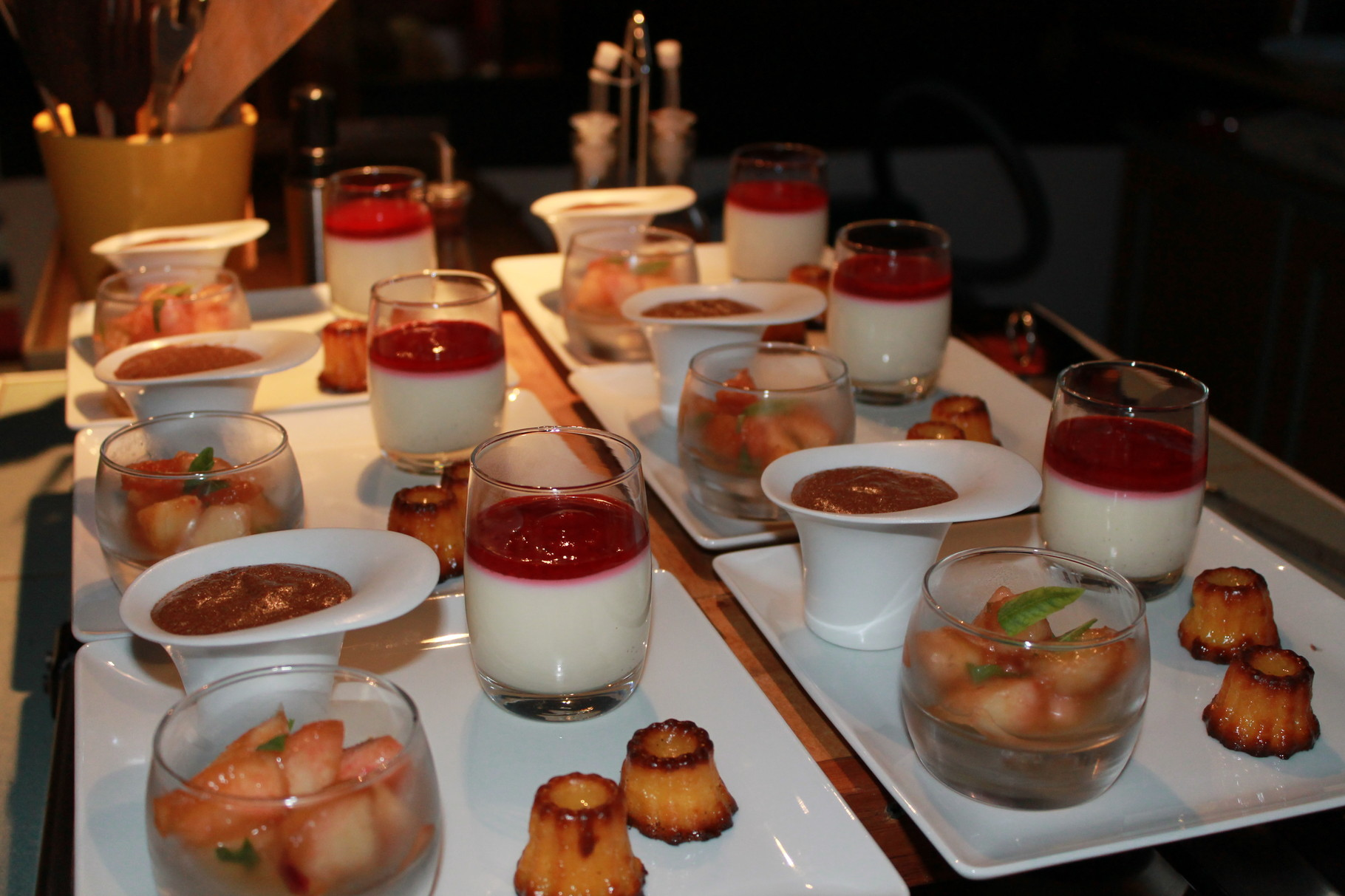 domaine de Millox, desserts variés