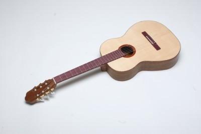 Gitarre aus Purpleheart,Ovengkol mit Fichtendecke von Mir :-)