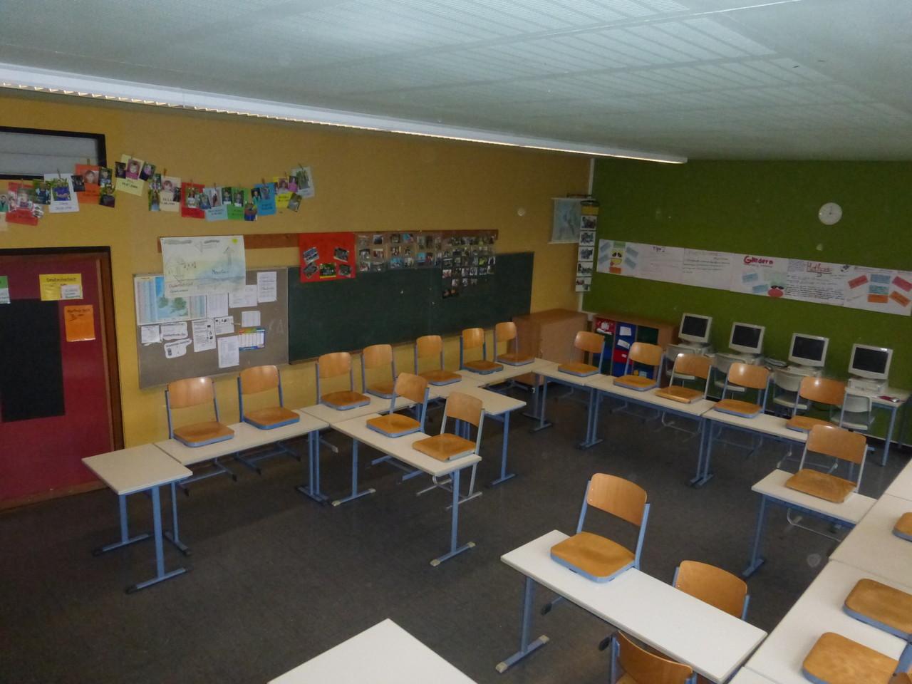 Klassenraum der 8a