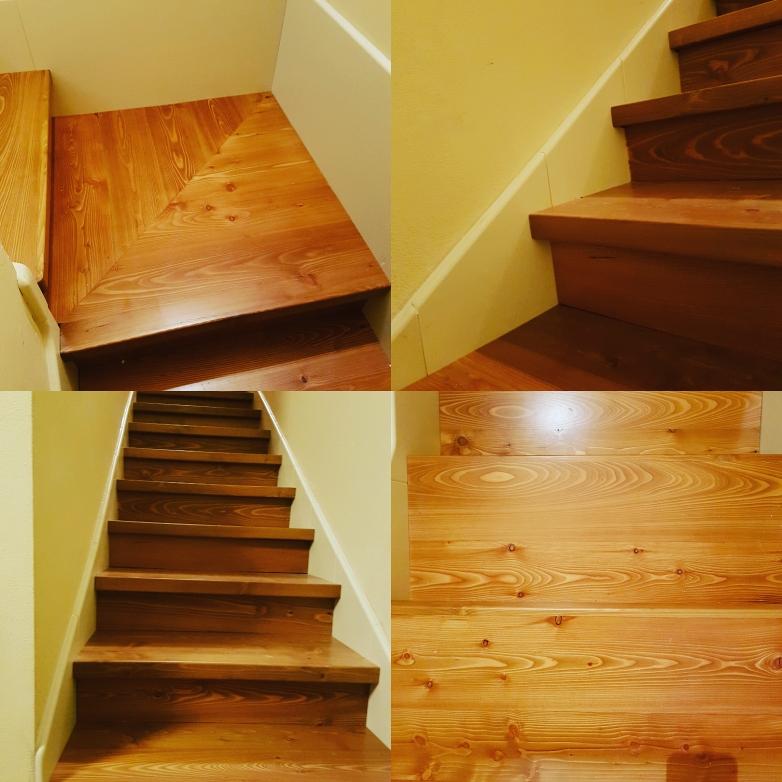 Scala in legno di Larice