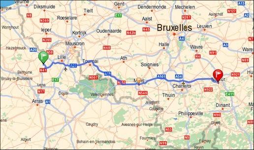 Fromelles - Mons - Namur