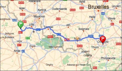 Fromelles - Mons - Charleroi