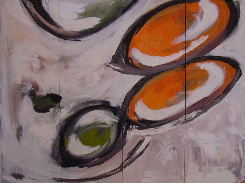 Bubbles II - 120 x 140 cm, Acryl