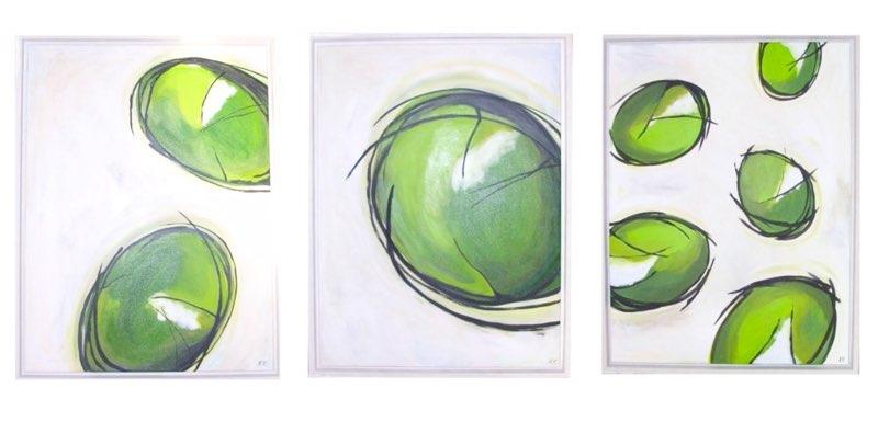 Bubbles - 3 x 60 x 80 cm, Acryl