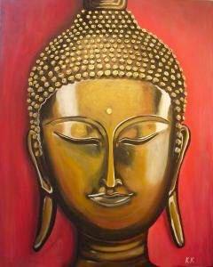 Buddha gold - 80 x 100 cm, Acryl