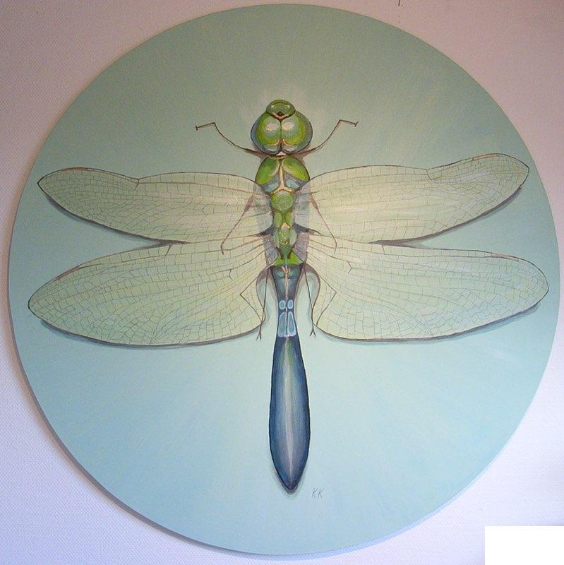 Libelle - 80 cm Durchmesser, Acryl