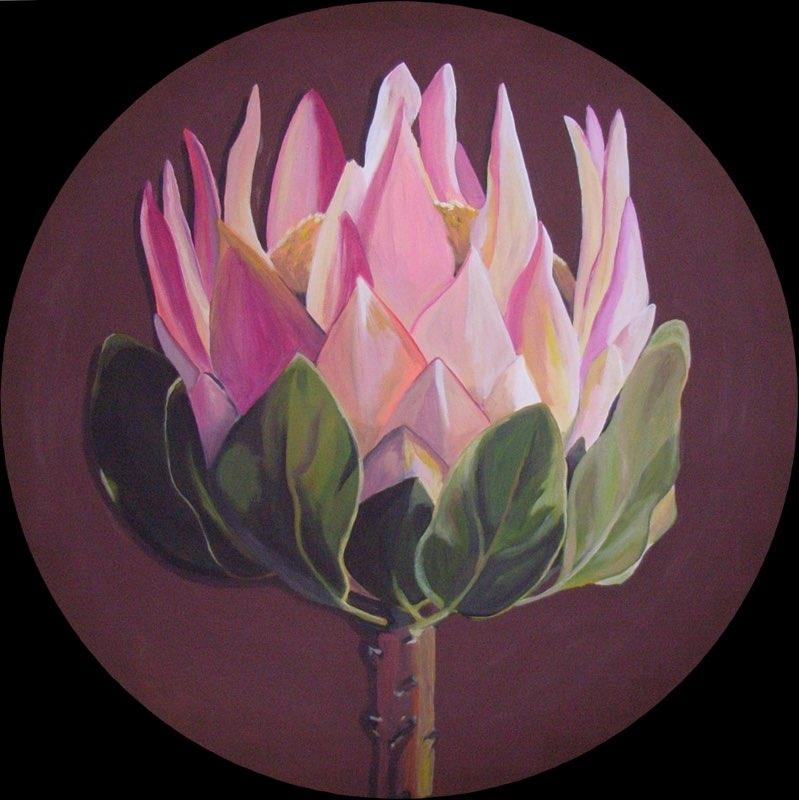Protea - 100 cm Durchmesser, Acryl