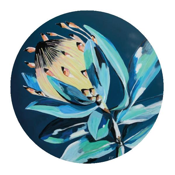 Protea blue - 80 cm Durchmesser, Acryl