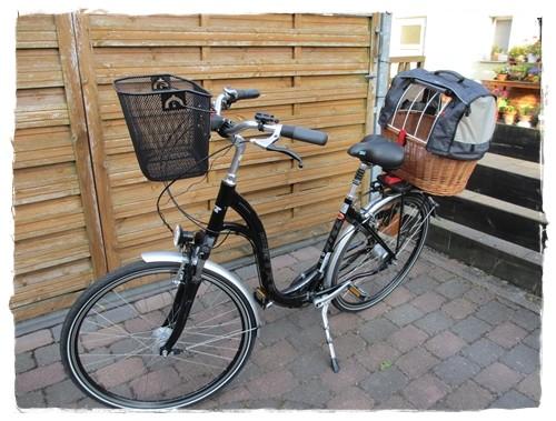 Das Fahrrad samt Coppamobil!