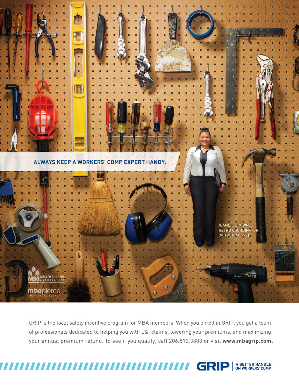 Print Ad for Master Builders Association (concept extended to email, direct, and web)