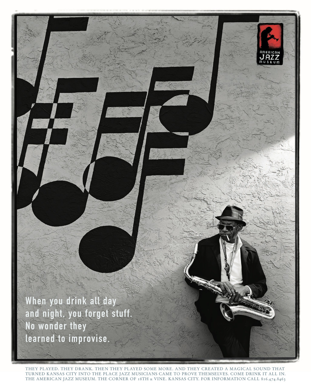 Poster for the American Jazz Museum in Kansas City.