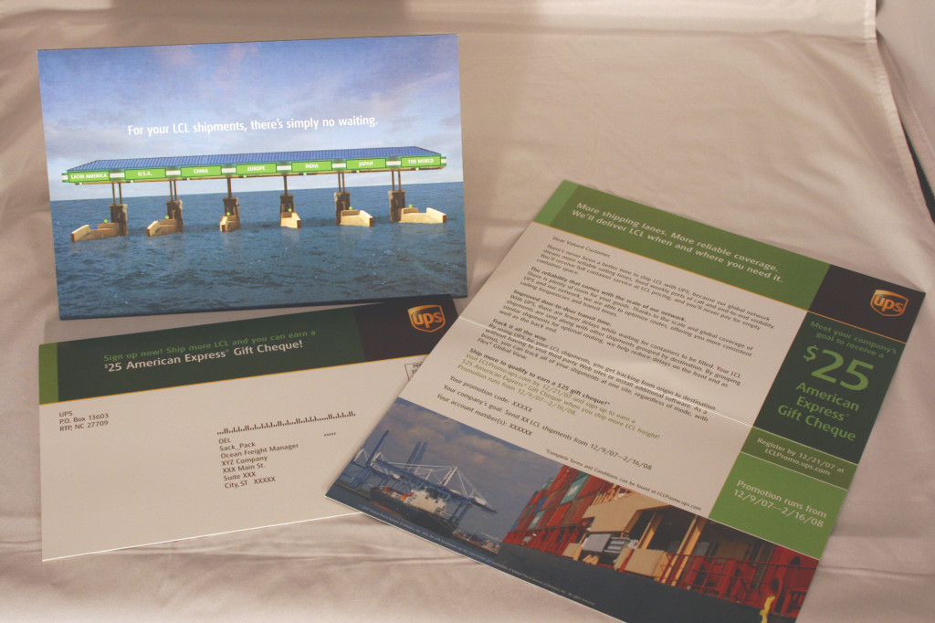 UPS Ocean Freight direct mail