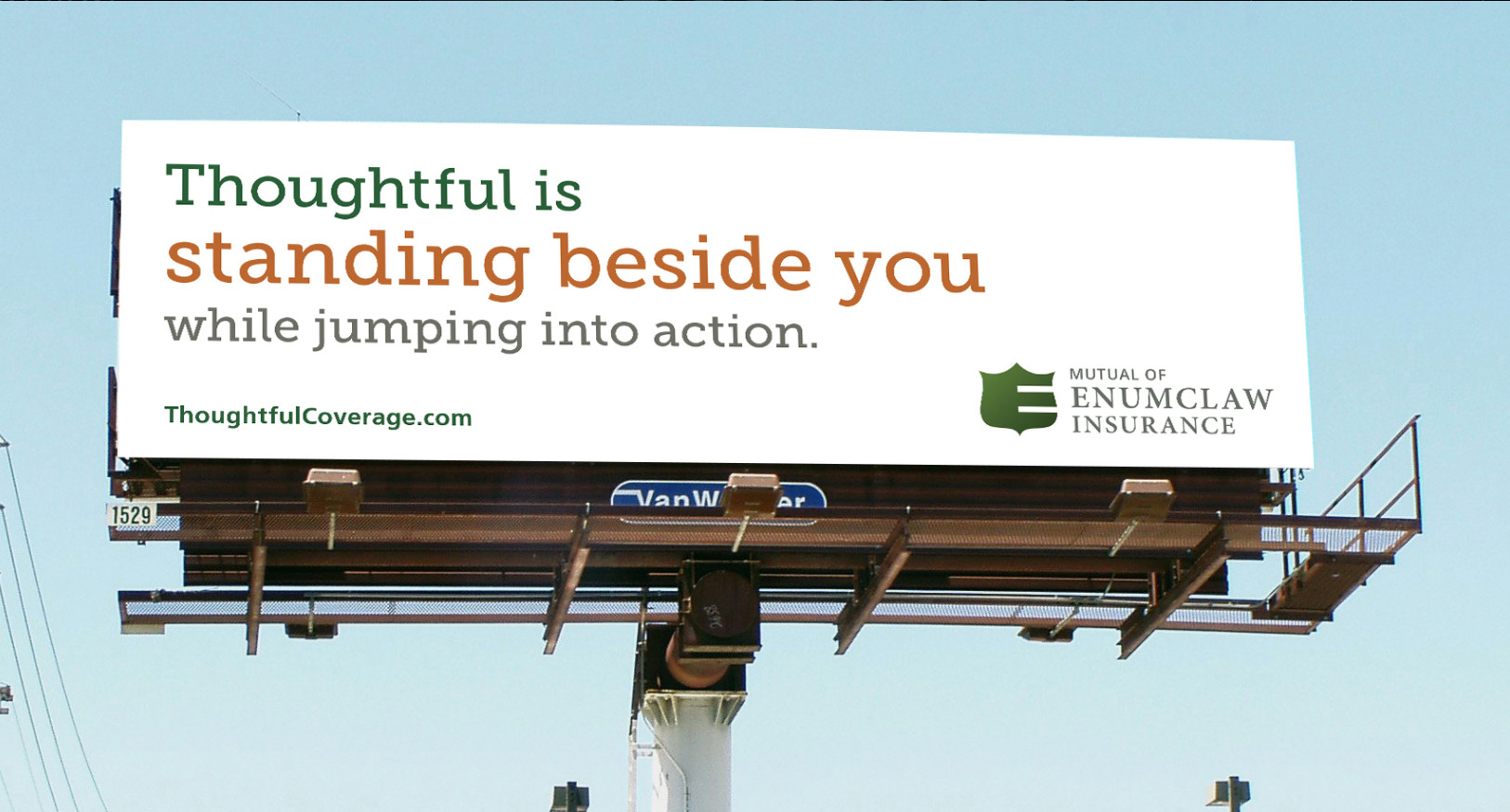 Outdoor board for Mutual of Enumclaw Insurance.