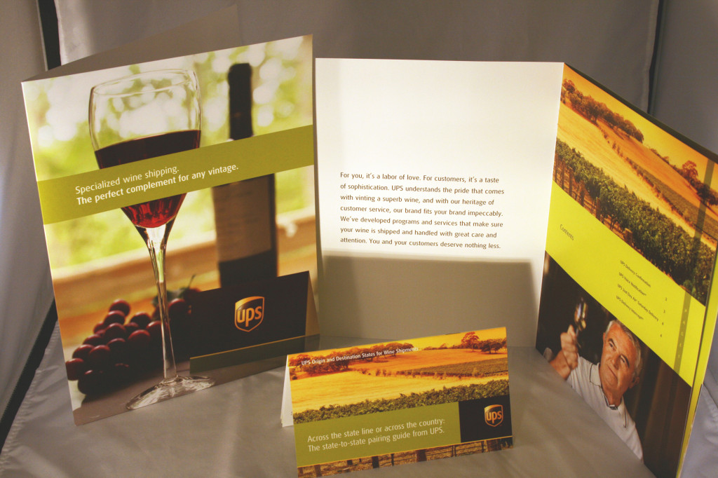 UPS Wine Delivery Services brochure