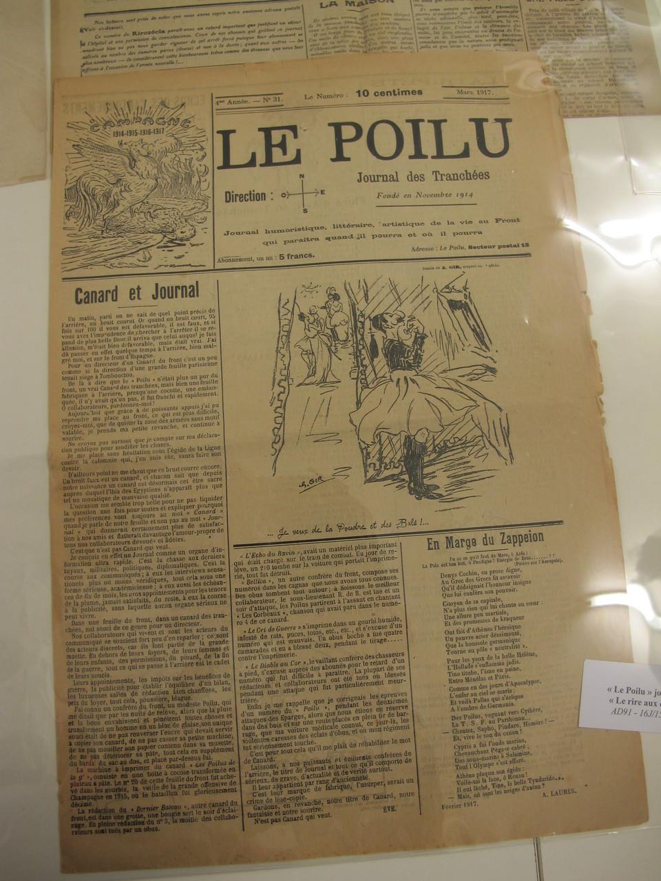 consultation sur place de journaux de la Grande Guerre
