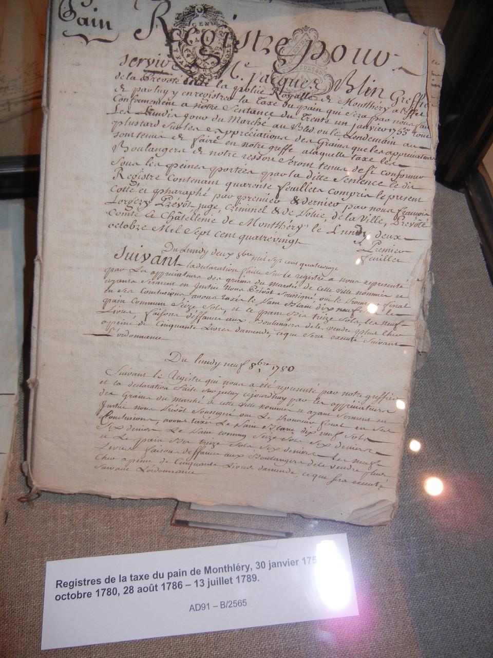 salle de tri: minute de 1563 du notaire Brunet