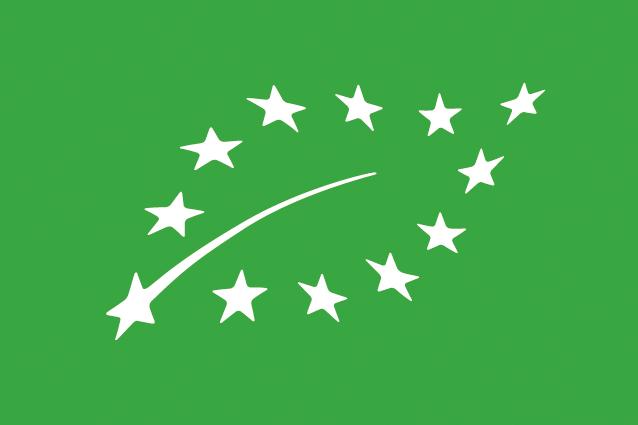 Le logo européen avec une feuille formée d'étoiles